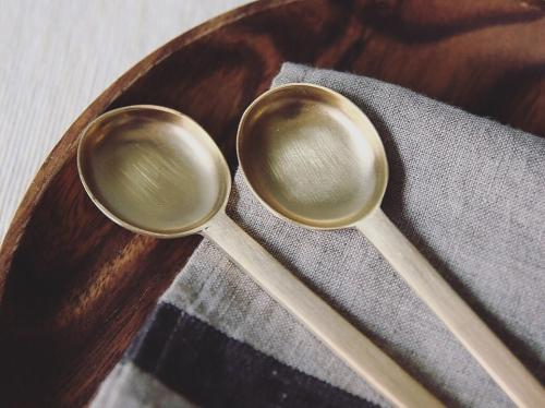 ferm living brass spoon set